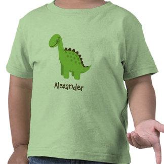 Personalizable Cute Green Dinosaur Tee Shirt