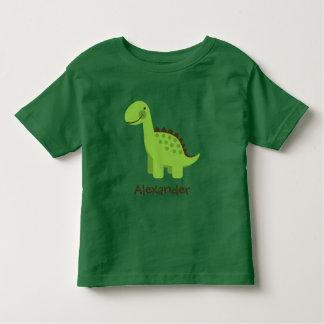 Personalizable Cute Green Dinosaur Tshirts