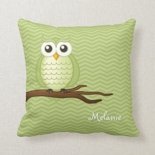 How To Make Cute Owl Pillows : Personalizable Cute Owl Throw Pillow Zazzle