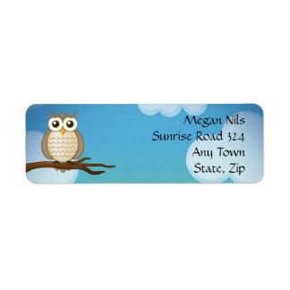 Personalizable Cute Wise Owl | Address Label