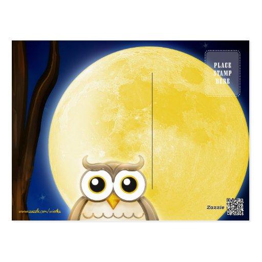 Personalizable Cute Wise Owl | Postcard