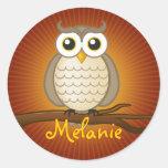 Personalizable Cute Wise Owl | Sticker