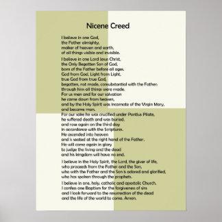 ¡Personalizable de Creed~ del Poster-Nicene!