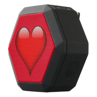 Personalizable de cristal rojo del corazón altavoces bluetooth negros boombot REX