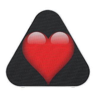 Personalizable de cristal rojo del corazón altavoz