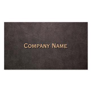 Personalizable de cuero oscuro del fondo tarjetas de visita