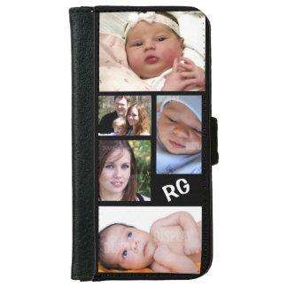 Personalizable de encargo del collage de la foto funda cartera para iPhone 6