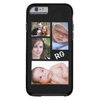 Personalizable de encargo del collage de la foto funda para iPhone 6 tough