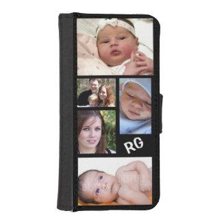 Personalizable de encargo del collage de la foto cartera para iPhone 5