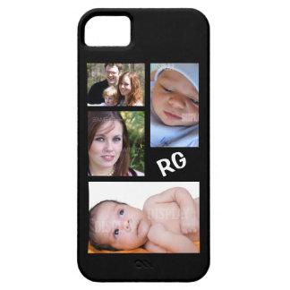 Personalizable de encargo del collage de la foto iPhone 5 carcasas