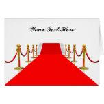 Personalizable de la alfombra roja tarjeton