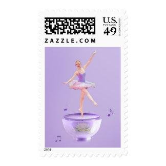 Personalizable de la bailarina de la caja de sello