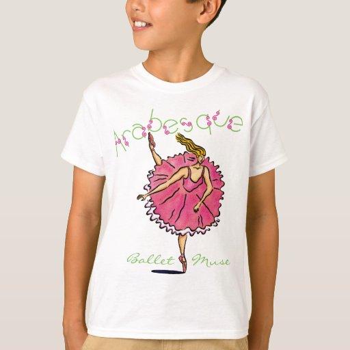 Personalizable de la bailarina del Arabesque Playeras