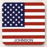 Personalizable de la bandera americana posavasos de bebidas