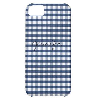 Personalizable de la guinga de los azules marinos funda iPhone 5C