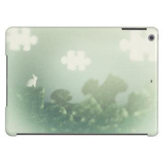 Personalizable de la hierba de nubes del funda para iPad air
