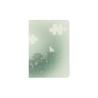Personalizable de la hierba de nubes del porta pasaporte