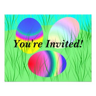 Personalizable de la invitación del huevo de Pascu