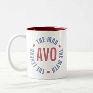 Personalizable de la leyenda del mito del hombre d taza de café