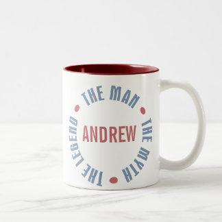 Personalizable de la leyenda del mito del hombre d tazas de café