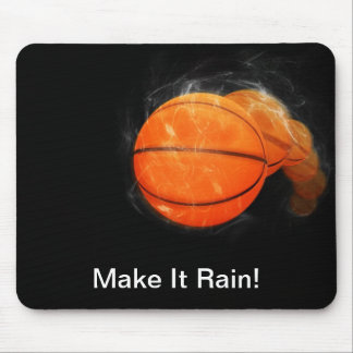 Personalizable de la lluvia del baloncesto alfombrillas de ratón