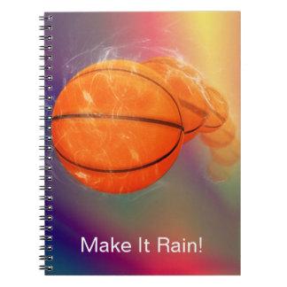 Personalizable de la lluvia del baloncesto libretas