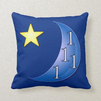 Personalizable de la luna azul almohada