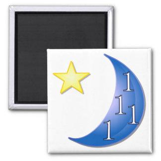 Personalizable de la luna azul imán cuadrado