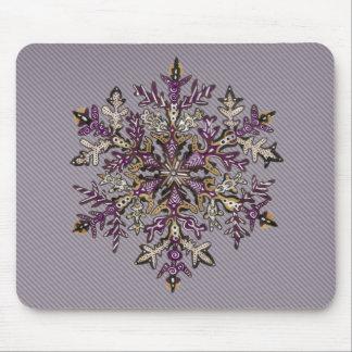 Personalizable de la nieve el   de la púrpura real alfombrilla de ratones