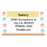 Personalizable de la panadería tarjeta de visita