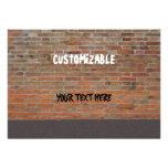 Personalizable de la pared de ladrillo de la pinta invitación personalizada