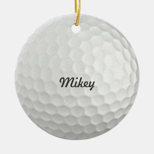 Personalizable de la pelota de golf adorno navideño redondo de cerámica