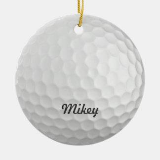 Personalizable de la pelota de golf adorno redondo de cerámica
