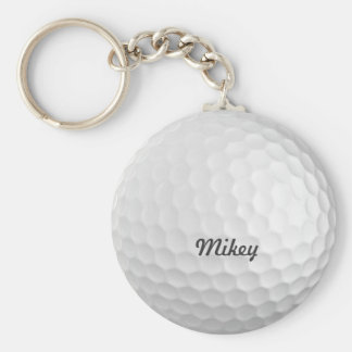 Personalizable de la pelota de golf llavero redondo tipo pin