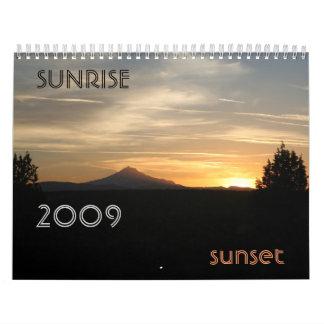 ¡Personalizable de la puesta del sol de la salida  Calendario
