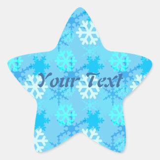 Personalizable de la ráfaga del copo de nieve pegatina en forma de estrella