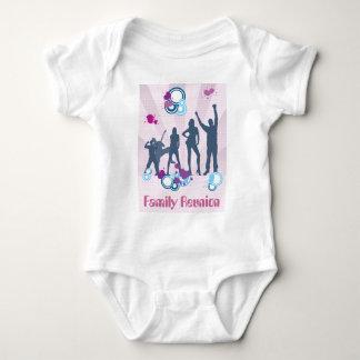Personalizable de la reunión de familia body para bebé