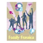 Personalizable de la reunión de familia postales