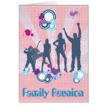 Personalizable de la reunión de familia tarjeta