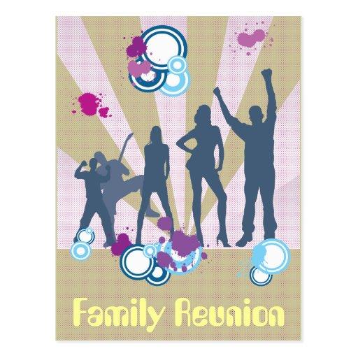 Personalizable de la reunión de familia tarjeta postal
