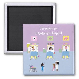 Personalizable de la sala del hospital de niños imán cuadrado