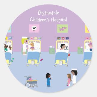 Personalizable de la sala del hospital de niños etiquetas