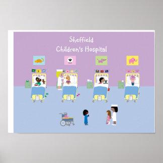 Personalizable de la sala del hospital de niños póster