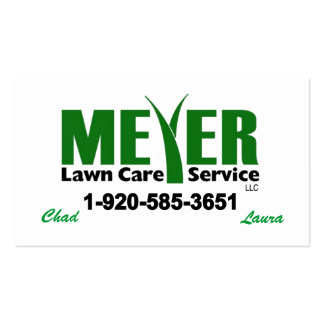 Personalizable de la tarjeta de visita de Meyer