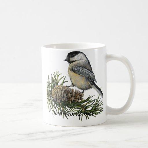Personalizable de la taza del Chickadee