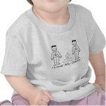 Personalizable de LGBT 2 papás y un bebé Camisetas