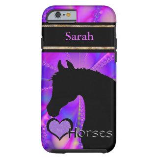 Personalizable de los caballos III del corazón Funda Resistente iPhone 6