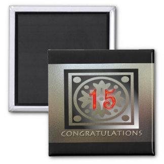 Personalizable de los regalos del aniversario del imán cuadrado