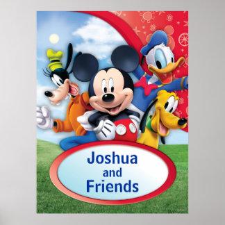 Personalizable de Mickey y de los amigos el | Póster