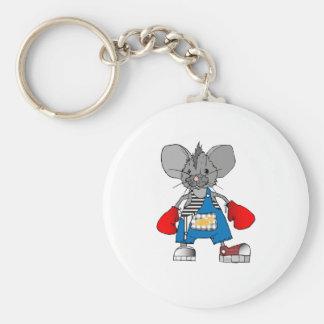 Personalizable de Mike del ratón de los ratones Llavero Redondo Tipo Pin